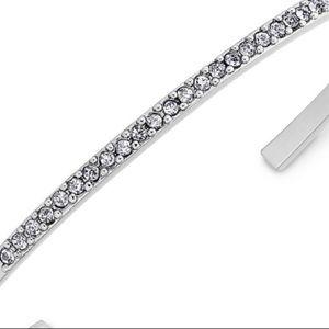 kate spade Jewelry - Kate Spade Pave Silver Cuff Bracelet NWT